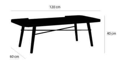 schema table basse met