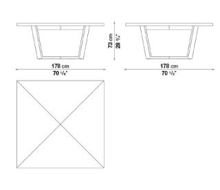 schema xilos table carré