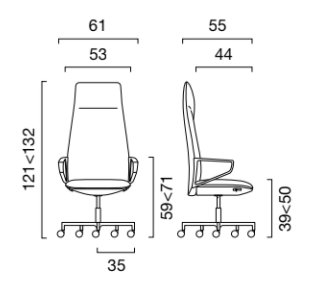 schema bia executive fauteuil dossier haut