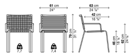 Schema Rest Chaise Avec Accoudoirs
