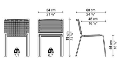 schema rest chaise sans accoudoirs