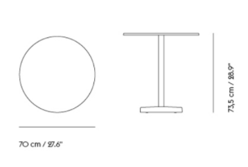 schema table rond linear