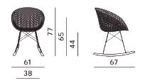 dimensions matrix rocking chair kartell