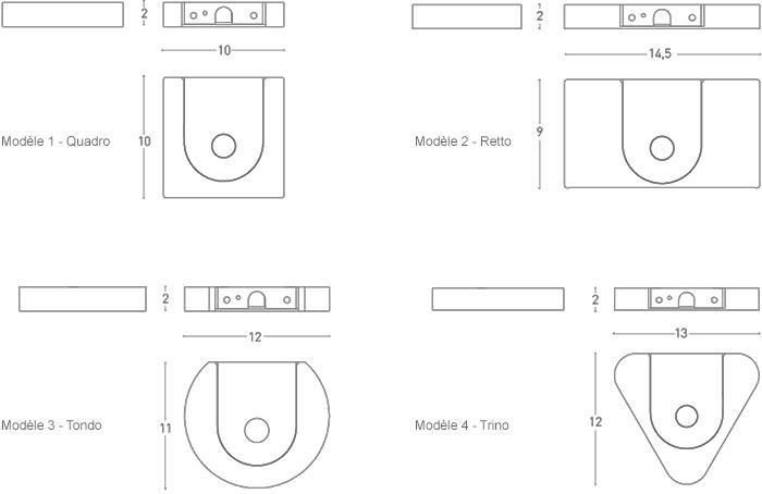 Dimensions appliques Segni de Lumen Center Italia