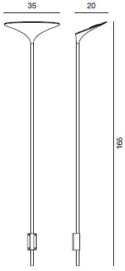 Dimensions applique Sunset W1 de Rotaliana