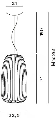 Dimensions suspension Spokes 1 de Foscarini