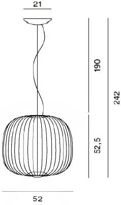 Dimensions suspension Spokes 2 de Foscarini
