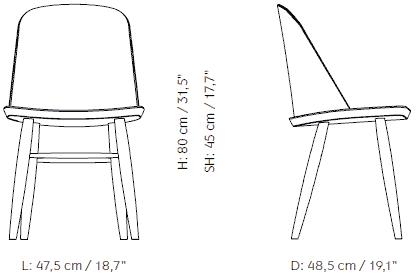 Dimensions Synnes Chair Menu