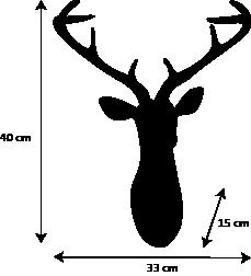 dimensions tete de cerf design artypopart