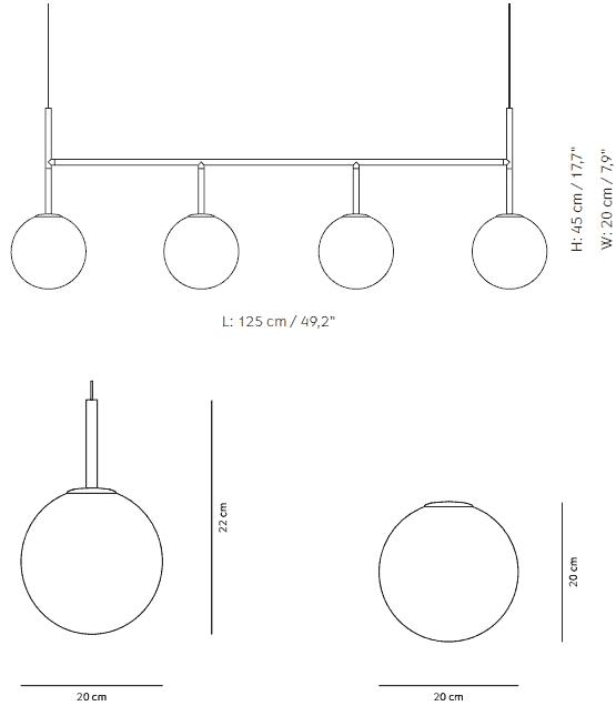 Dimensions Suspension TR Bulb Menu