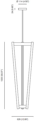 Dimensions Tube Chandelier Michael Anastassiades