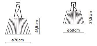 Dimensions suspensions TXL de Marset