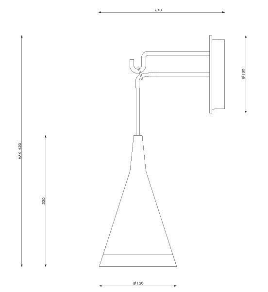 Dimensions applique Vigo de Artemide