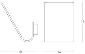 Dimensions applique Virgola de Lumen Center Italia