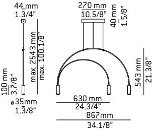Volta T-3536 Estiluz dimensions