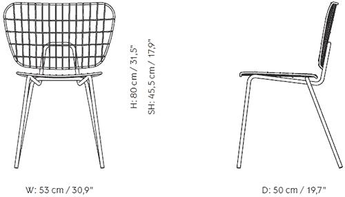 Dimensions chaise WM String Menu