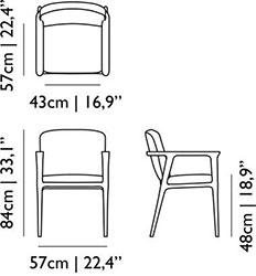 Dimensions fauteuil Zio de Moooi