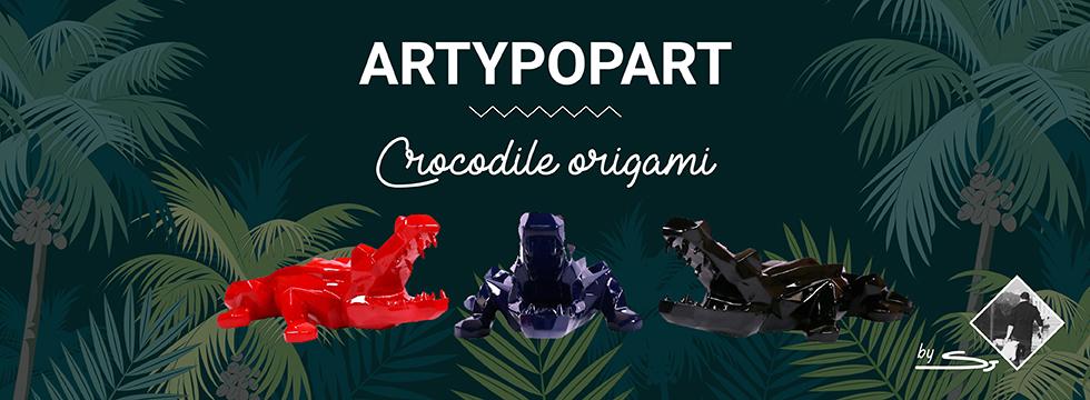 Crocodile origami Artypopart
