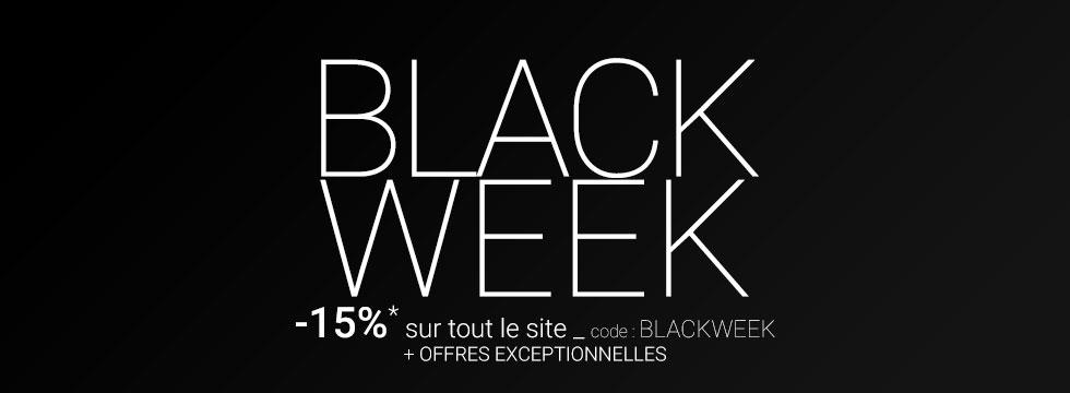 Black Week -15% sur tout le site *