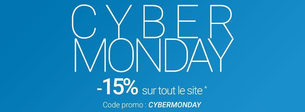 Cyber Monday -15% sur tout le site *