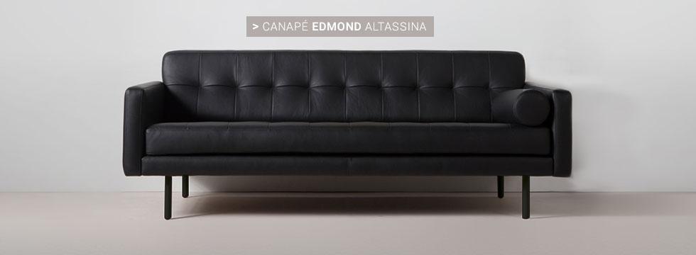 Canapé cuir Edmond Altassina