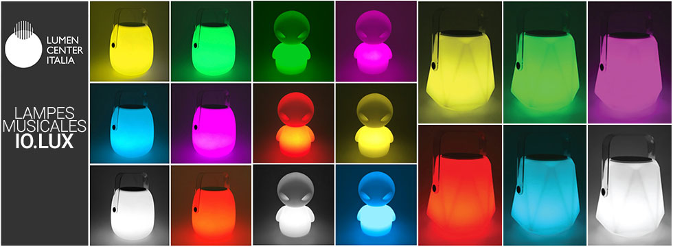 Lampes musicales IO.LUX Lumen Center