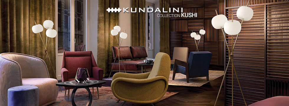 Collection de luminaires Kushi de Kundalini