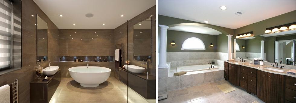 Quel luminaire pour salle de bain choisir - Eclairage plafond salle de bain ...